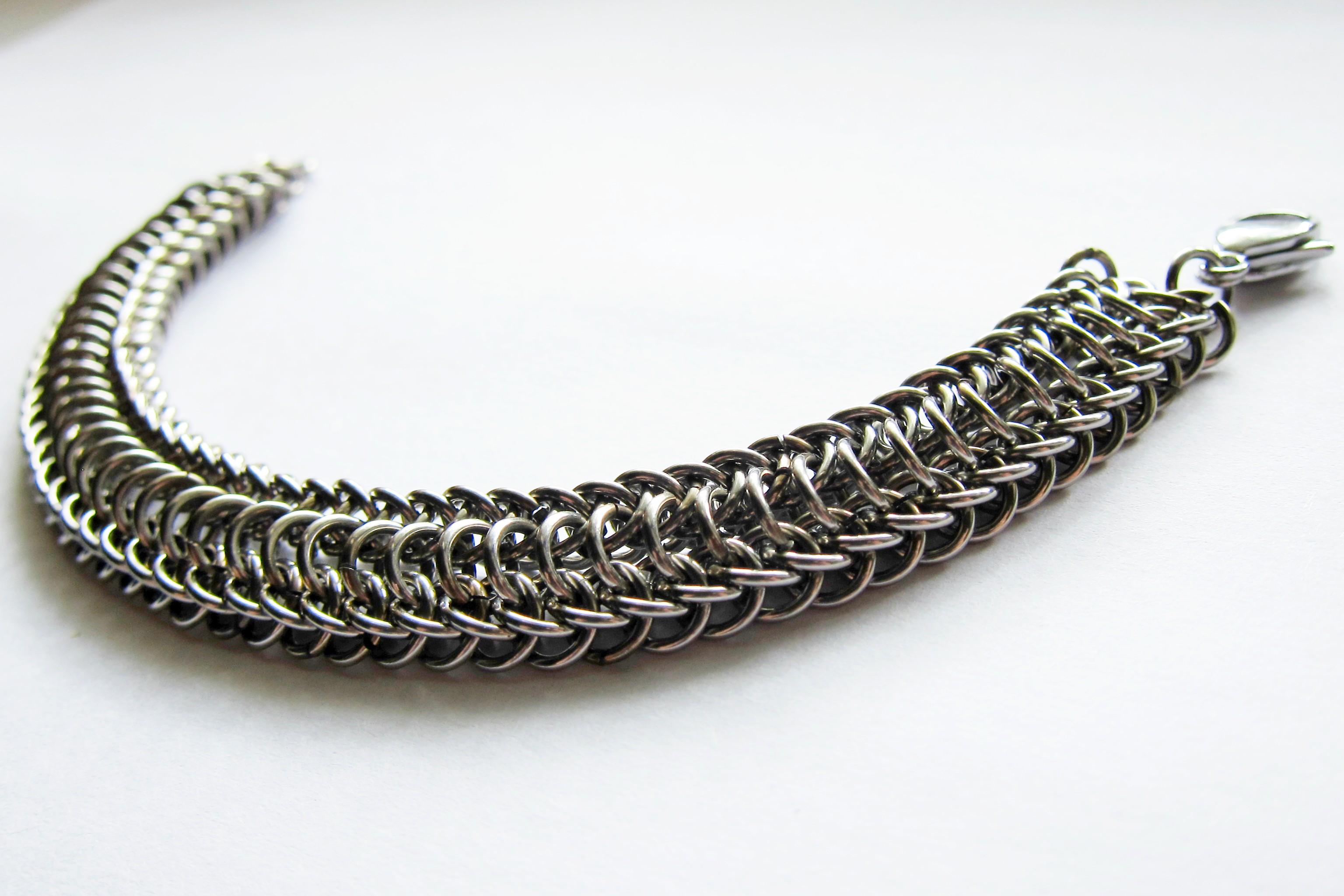 Мужской стальной браслет - купить в магазине Ручная Сталь