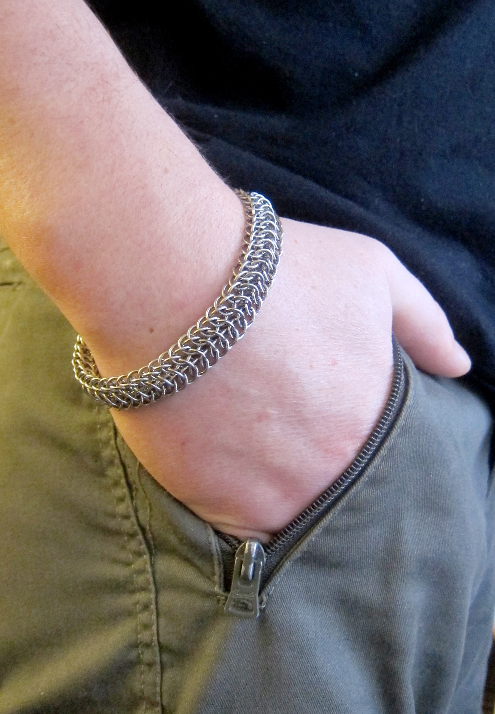 Мужской стальной браслет - цена в магазине Ручная Сталь